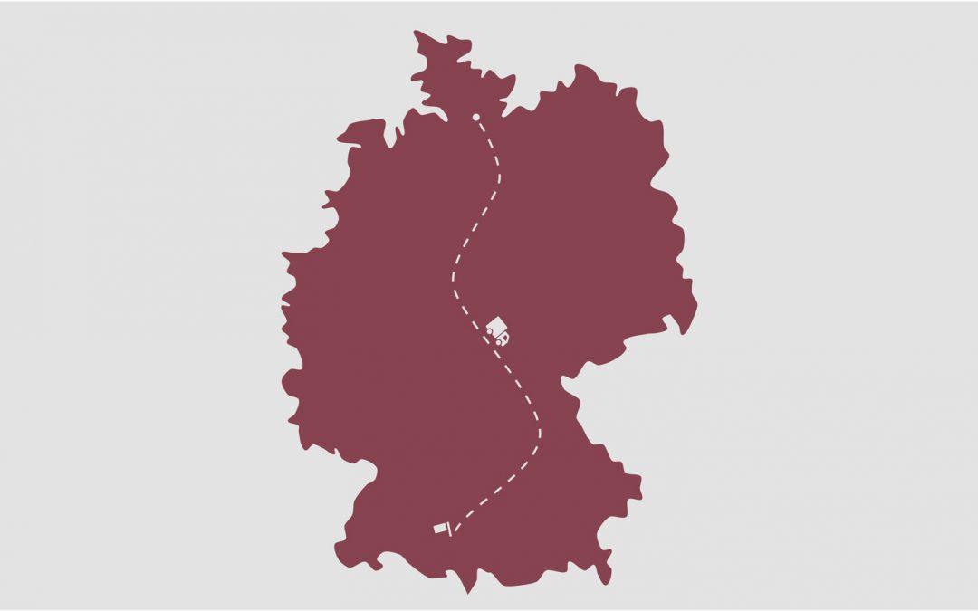 Bundesweite Transporte – unsere kostenoptimierten Ferntouren